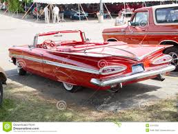 1959 Red Chevy Impala Convertible Editorial Photography - Image ...