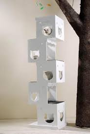 modern design cat furniture. unique furniture this cat tree has a modern abstract design and is simple furniture