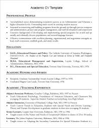Academic Resume Template Word Commily Com