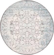 light gray 8 x new vintage round rug area rugs irugs uk