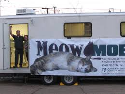 meow mobile colorado veterinary medical association metro denver area through the meow mobile this first joint effort of its kind in colorado will prevent thousands of unwanted litters from being born