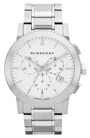burberry check stamped chronograph bracelet watch 44mm nordstrom