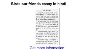 birds our friends essay in hindi google docs