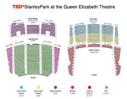 Stanley Theatre Seating Chart Vancouver Bc Queen Elizabeth Theatre Seating Map Tedx Vancouvers