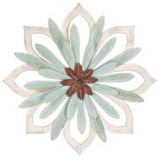 starburst flower metal wall decor