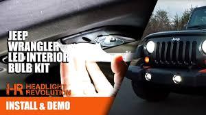 Led Lights For 2013 Jeep Wrangler 07 17 Jeep Wrangler Jk Led Interior Bulb Kit Install Canbus Friendly Headlight Revolution