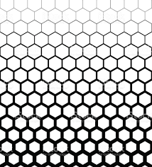 Abstract geometric design halftone seamless pattern. Vector illustration  royalty-free abstract geometric design halftone