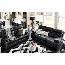 black leather living room furniture. Brisco Power Reclining Sofa And Loveseat Set - Black Leather Living Room Furniture