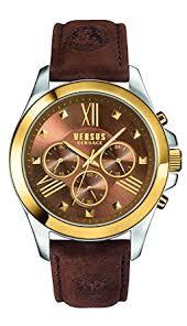 amazon com versus by versace men s sbh030015 chrono lion analog versus by versace men s sbh030015 chrono lion analog display quartz brown watch
