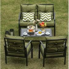 eggleston 4 piece patio conversation set with cushions