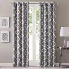 gray blackout curtains grommet curtain designs