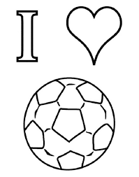 Coloring Pages Football I Love Soccer Coloring Pages For Kids Coloring Pages Game On