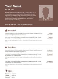 Free Basic Resume Examples Examples Of Resumes