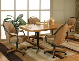 tested kitchen table with swivel chairs cramco inc shaw cal in and casters