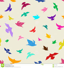colorful birds flying clipart. Perfect Flying Seamless Pattern Of Birds Throughout Colorful Birds Flying Clipart R