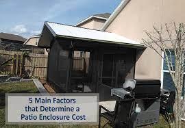 a patio enclosure cost