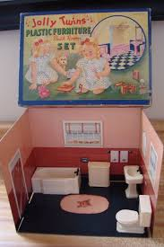 plastic dollhouse furniture sets. vintage renwal jolly twins plastic dollhouse furniture bath room set very rare plastic dollhouse furniture sets