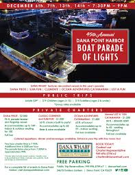 Christmas Boat Parade And Santa Boat Rides Dana Wharf