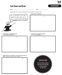 Cool Down and Draw worksheet from the Mindful Practices' book ...