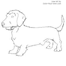 Weiner Dog Coloring Pages Dachshund Printable Coloring Pages Weiner