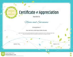 Certificate Of Appreciation Templates Free Download Certificate Of Appreciation Template In Nature Theme With Green