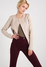 guess samantha faux leather jacket almond women clothing jackets beige