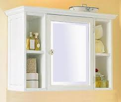 image of good white bathroom wall cabinet design
