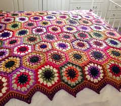 Hexagon Crochet Pattern Mesmerizing 48 Free EasyPeasy Crochet Hexagon Patterns