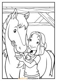 Meisje Op Paard Kleurplaat
