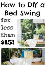 diy bed swing