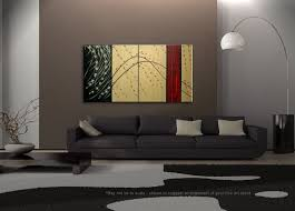 large cherry blossom painting gold red
