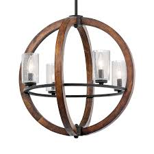 kichler grand bank auburn rustic hardwired single seeded glass globe standard pendant