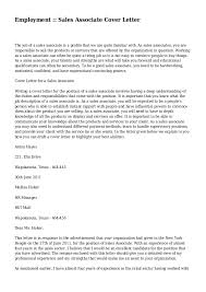 Employment Sales Associate Cover Letter