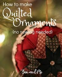 Best 25+ Quilted christmas ornaments ideas on Pinterest | Fabric ... & Homemade Quilted Christmas Ornaments Tutorial Adamdwight.com