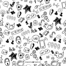 Doodle Patterns Awesome Cute Doodles Seamless Pattern Vector Free Download