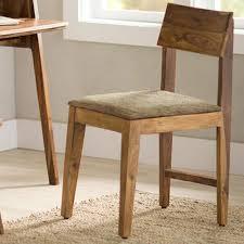 Sheesham Bedroom Furniture Sheesham Wood Cushioned Dining Chair Vivaterra
