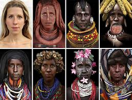 African tribe white women