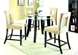 glass table set high dining room tables sets counter height round glass table set and chairs
