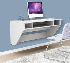 wall mounted table for puter with some segments of shelves a puter and a  smartphone white floating desk ikea ...