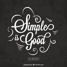 Elegant Vintage The Simple Is Good Quote Vector Free Download Interesting Simple Quote