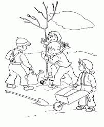 Small Picture Tree Coloring Pages The Child Plant Bare Tree Coloring Page Kids
