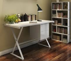 small office drawers. White Laminate Desk Small Office With Drawers