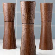 modern salt or pepper mill dark walnut crushgrind h – the