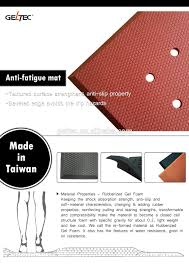 Kitchen Gel Floor Mats Non Slip Heat Resistant Water Resistant Rubber Gel Foam Kitchen
