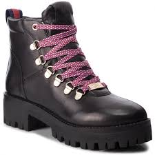 hiking boots steve madden boomer ankle boot sm11000245 03001 017 black leather