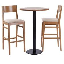 orion square round or rectangle bar table bar stools set walnut or oak