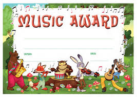 Kids Award Certificate School Certificates Music Award 30 Cool Design Certificates For