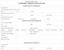 Internal New Vendor Application Form Template Danielmelo Info