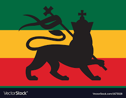 Rastafarian Flag With The Lion Of Judah Royalty Free Vector Extraordinary Rastafarian
