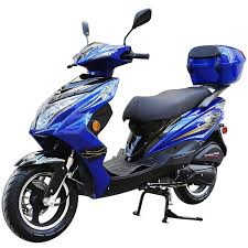 200cc gas moped scooter super 200 blue